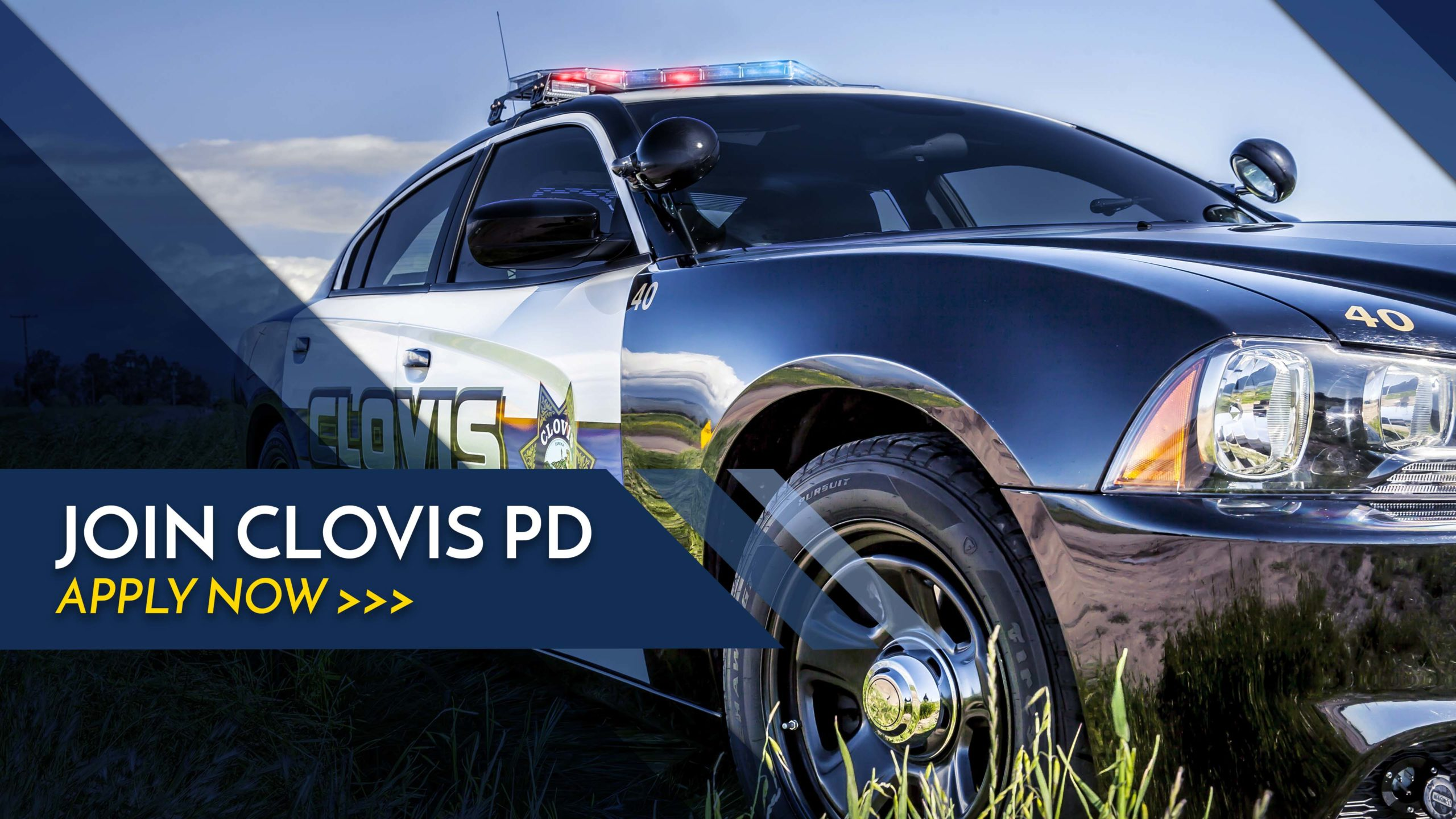 An image of a Clovis police car
